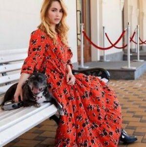 NWT Zara Red Floral Print Dress